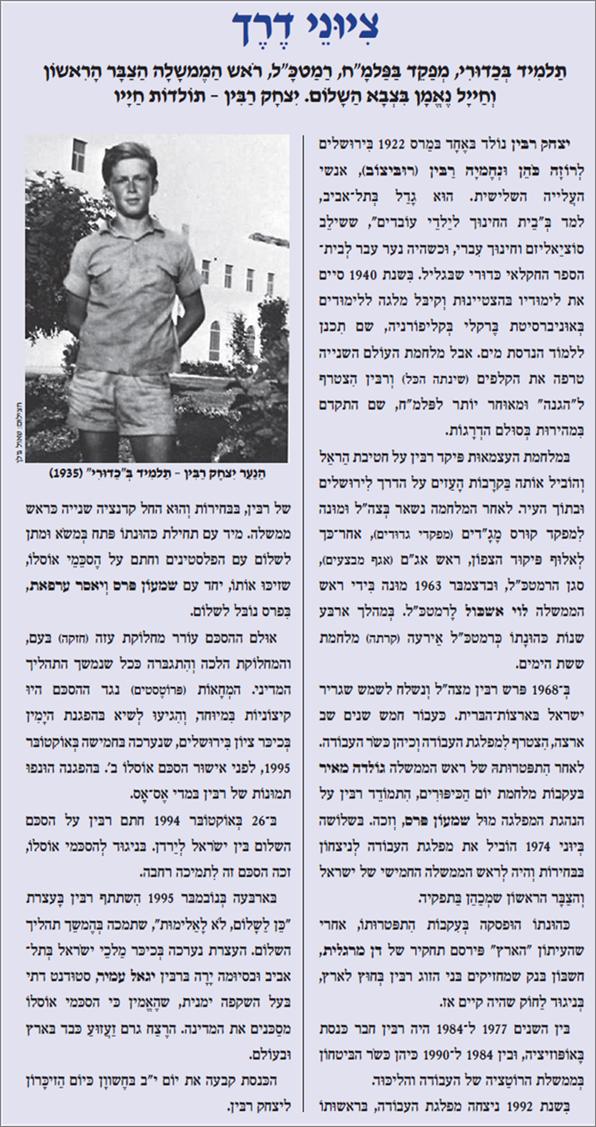 יצחק רבין-ציוני דרך