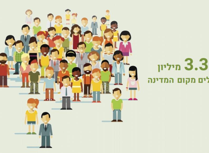 בפתח 2020 – בישראל יותר מ-9.1 מיליון תושבים
